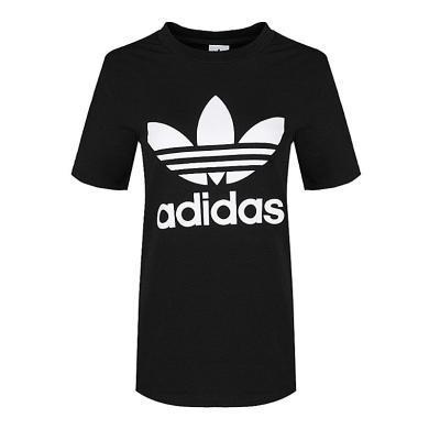 adidas Originals阿迪三叶草2019女子TREFOIL TEE圆领短T恤CV9888