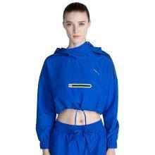 佐纳春季新款套头连帽立领女夹克卫衣运动健身服宽松弹力薄外套女