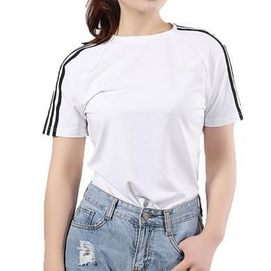 adidas阿迪达斯2019女子D2M 3S TEE圆领短T恤EH8723