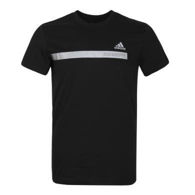 adidas阿迪達斯2019男子SS TEE TAPE圓領短T恤DZ2214