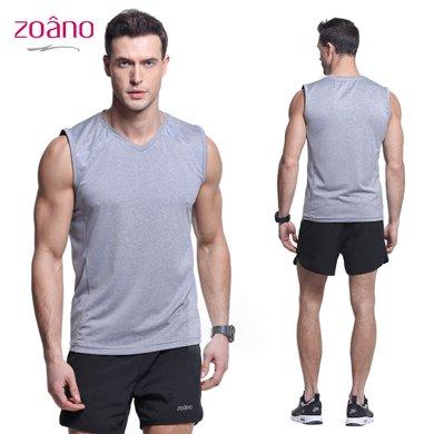 佐納(ZOANO) 運動背心 夏季新款無袖T恤運動透氣速干背心