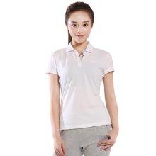 德尔惠夏季新款女士POLO衫运动短袖女T恤速干纯色透气T恤82620173