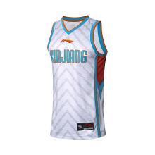 李宁篮球比赛服男2018新款新疆队CBA篮球系列背心上衣针织运动服