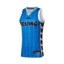 李宁篮球比赛服男2018新款北京队CBA篮球系列背心上衣针织运动服
