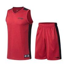 李宁篮球比赛套装男士2018新款篮球系列短裤短装运动服AATN005