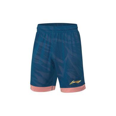 李寧CBA籃球系列男子修身比賽褲AAPP311