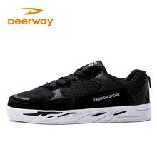 Deerway德爾惠品質運動鞋男女通用韓版低幫鞋子系帶板鞋T21813397