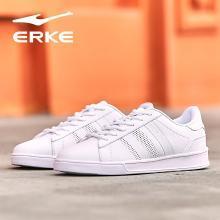 鴻星爾克(ERKE)女網球鞋女 2019年春季新款 舒適透氣休閑輕質滑板鞋跑步鞋 52119112131