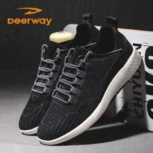 德尔惠运动鞋男士休闲鞋新款冬季耐磨跑步鞋男学生韩版潮旅游鞋子T21813376