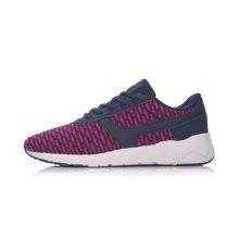 李宁休闲鞋女鞋新款Heather轻便一体织春季运动鞋ARCM008