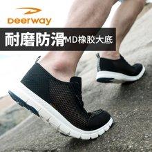 德尔惠运动鞋男夏新品跑步鞋一脚蹬轻便跑鞋网面透气网鞋男休闲鞋T22713323
