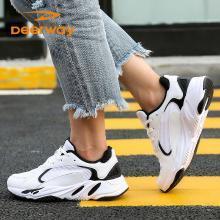 德尔惠秋季新款女士运动跑步鞋休闲鞋简约百搭潮73824519