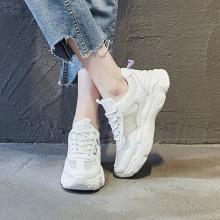德尔惠 新款女鞋休闲老爹鞋鞋女运动鞋网面透气女厚底小白鞋女D922010001