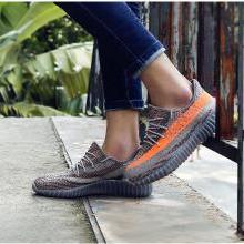 德爾惠男鞋飛織運動鞋椰子休閑鞋春夏季新款網面透氣鞋子男跑步鞋