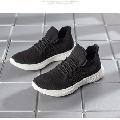 德爾惠夏季新款網鞋男士運動休閑板鞋韓版跑步潮鞋透氣飛織鞋男鞋