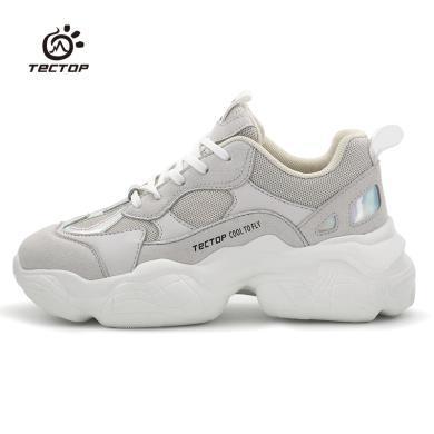 TECTOP/探拓户外老爹鞋休?#20449;?#27493;增高厚底?#38041;?#32784;磨防滑运动鞋女款