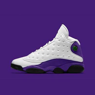 Air Jordan 13 AJ13 LA 湖人白紫 篮球鞋 414571 105