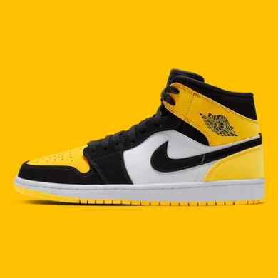 Air Jordan 1 Mid SE Yellow Toe 黑黄脚趾 中帮 852542 071
