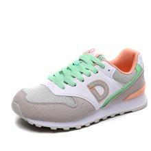 运动鞋女跑步鞋女春季德尔惠女鞋透气复古慢跑鞋潮旅游女休闲跑鞋71724507