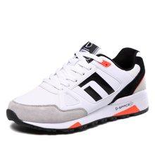 运动鞋男德尔惠男鞋春季新款跑步鞋男士旅游鞋复古慢跑鞋71714520