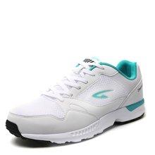 德尔惠男鞋正品网面跑步鞋男春季减震轻便透气耐磨学生系带轻跑鞋T21613546