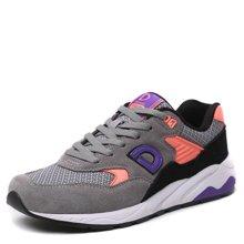 德尔惠女鞋运动鞋春季复古跑步鞋慢跑鞋休闲旅游鞋女子网布跑鞋c