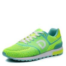 德尔惠女鞋春季飞线编织运动鞋女轻便跑步鞋网面透气跑鞋正T72624561