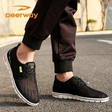 德尔惠男鞋夏季新款跑步鞋男运动鞋网面旅游休闲鞋学生T21813363