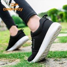 德尔惠男鞋夏季跑步鞋女轻便透气减震耐磨学生网面情侣运动鞋T22813410