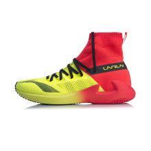 李宁跑步鞋女鞋新款轻质一体织袜子鞋女士专业高帮运动鞋ARBN004