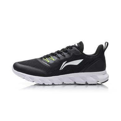 李寧跑步鞋男鞋新款光梭一體織跑鞋夏季黑色網面透氣輕便運動鞋ARBP051