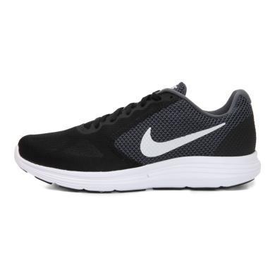 NIKE耐克2019年新款男子 REVOLUTION 3 黑白灰轻便运动跑步鞋819300-001