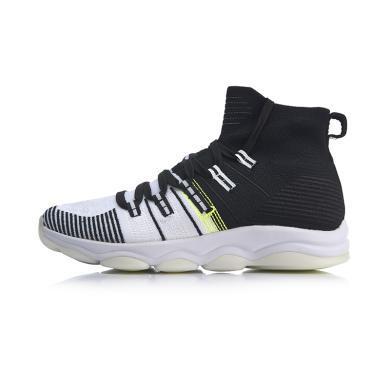 李寧健身鞋男鞋2019新款無界包裹綜合訓練鞋夏季高幫運動鞋AFJP027