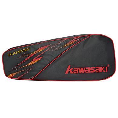 川崎新款羽毛球包3支裝男女款單雙肩背包羽毛球拍包拍套8112