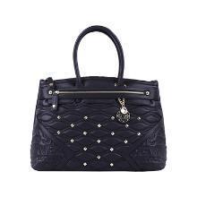 意大利Versace Jeans范思哲 铆钉手提包 黑色 SD66VJC10166复古铆钉 精美坠饰 百搭黑色香港直邮
