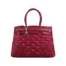 意大利Versace Jeans范思哲 鉚釘手提包 紅色 SD66VJC10166復古鉚釘 精美墜飾 吸睛紅色香港直郵