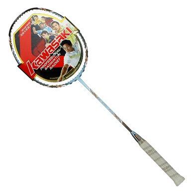 Kawasaki/川崎羽毛球拍全碳素24T高剛單拍已穿線