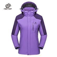 探拓冲锋衣女款三合一登山服两件套抓绒衣内胆秋冬保暖
