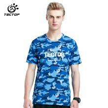 TECTOP/探拓新款休闲短袖圆领T恤男款夏季迷彩印花速干上衣轻薄透气潮