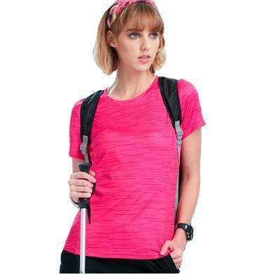 TECTOP/探拓情侣户外T恤透气轻薄圆领男女款短T登山运动速干衣