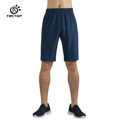 探拓户外速干裤男夏季薄款运动快干裤徒步五分运动裤