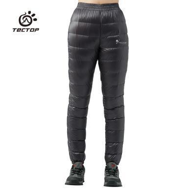 TECTOP/探拓冬季女款羽絨褲超輕外穿白鴨絨保暖長褲男透氣滑雪褲