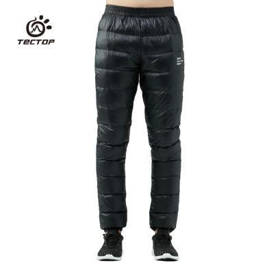 TECTOP/探拓冬季男款羽绒裤超轻外穿白鸭绒保暖长裤男?#38041;?#28369;雪裤