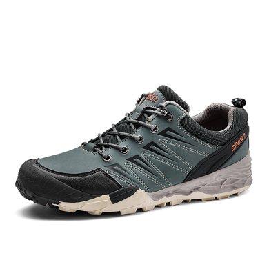 樂嘉途春季男鞋戶外登山鞋男大碼徒步鞋防滑耐磨戶外鞋子棉鞋加絨不加絨可選L2055