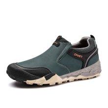 乐嘉途冬季男鞋加绒户外登山鞋棉鞋男大码徒步鞋防滑耐磨户外鞋子可选加绒不加绒L2053