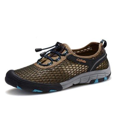 樂嘉途男士網鞋夏季透氣運動鞋網眼鞋網面休閑鞋子戶外網布鞋男鞋L1902