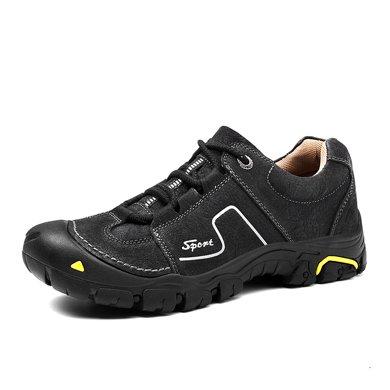 樂嘉途男鞋戶外登山鞋男防滑減震戶外鞋低幫耐磨徒步鞋透氣鞋子男L2061