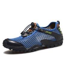 乐嘉途夏季新款男鞋网布鞋运动鞋男士休闲鞋网面透气低帮鞋网眼鞋L1809DW