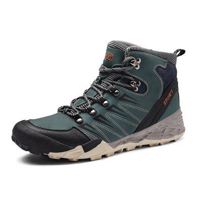 樂嘉途男登山雪地鞋男冬季保暖加絨棉鞋防水防滑高幫鞋大碼戶外鞋加絨不加絨L2057