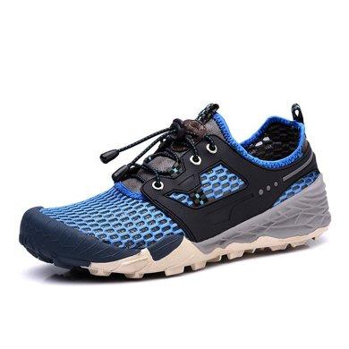 樂嘉途夏季網面登山鞋戶外男網眼鞋透氣徒步運動鞋夏天網布鞋子男L2028